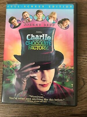 Charlie and the Chocolate Factory (DVD, 2005, Full Frame) PG