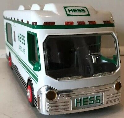 Hess Gas Hauler Bus & Motorcycle Rider - 1998 Lights Up!! Great Condition!!