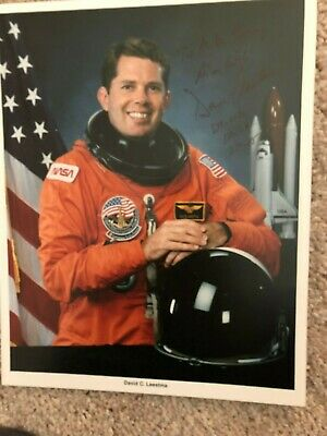 David Dave Leestma Nasa Space Shuttle Astronaut Autograph Signed Photo