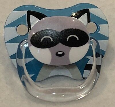 Reborn Baby Doll Dr. Browns Raccoon Magnet Pacifier For Boy or Girl