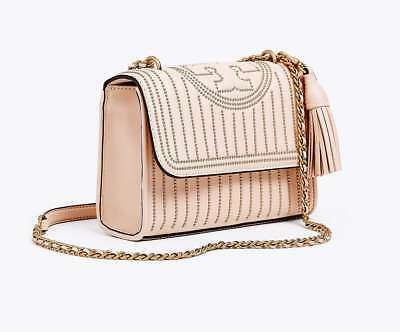 c78ac8b284ab Tory Burch Fleming Mini Stud Small Convertible Should Bag In Shell Pink  52310