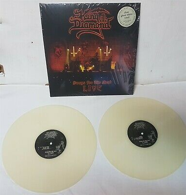 King Diamond Songs For The Dead Live Clear Ghost White LP Vinyl Record new