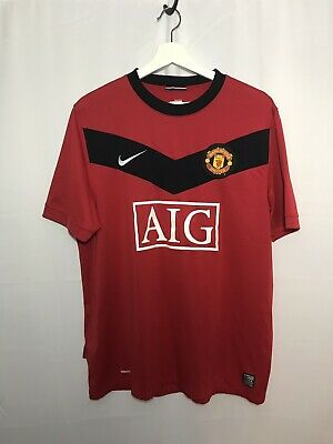 fc192217bf9 Manchester United Home Football Shirt Jersey Nike 2009-2010 Adult Large Red  Aig