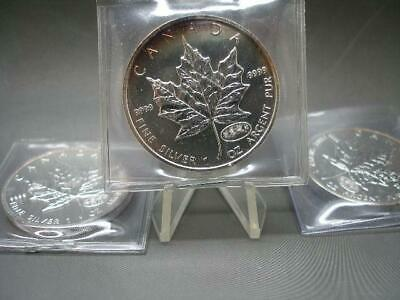 Toned Bu 2000 Fireworks Privy Canadian Rcm 1 Oz .9999 Fine Silver Maple Leaf