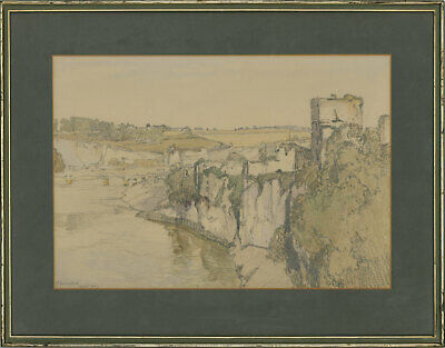 Samuel John Lamorna Birch (1869-1955) - Signed 1916 Watercolour, Chepstow