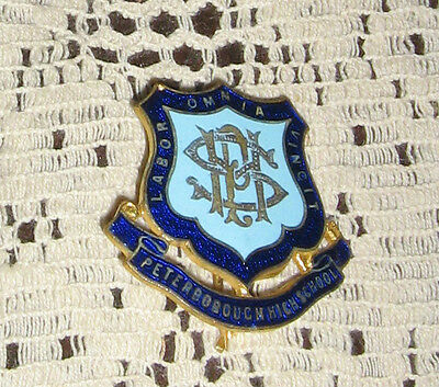 Peterborough High School Badge Old Mint Condition Stokes Melbourne
