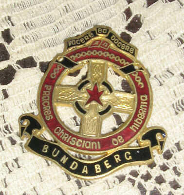 Bundaberg  Christian Brothers College Badge Mint Condition Stokes Melbourne Nice