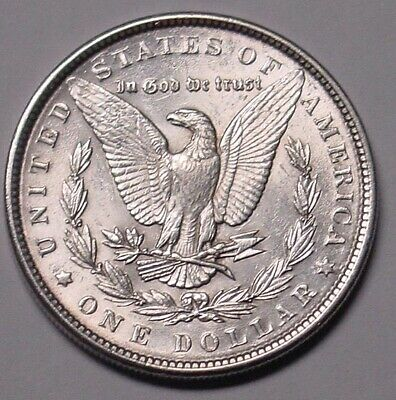 USA. 1889 Morgan silver dollar. Lustrous, EF.