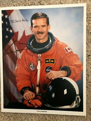 Chris Hadfield Nasa Space Shuttle Astronaut Autograph Signed Litho Photo