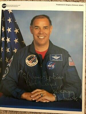 Fred Gregory Nasa Space Shuttle Astronaut Autograph Signed Litho Photo