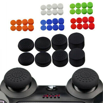 8pcs Black Silicone Thumb Stick Grip Cover Caps For PS4 & Xbox One Controller