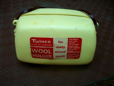 vintage plastic twinco wool holder 5.5 x 3 inches