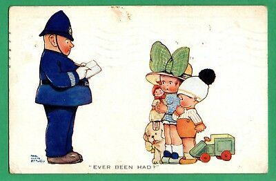 Ever Been Had * Mabel Lucie Attwell * Vintage 1925 * Policeman & Children *e141