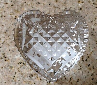 New With Store And Seahorse Sticker Waterford Lismore Heart Shaped Paperweight