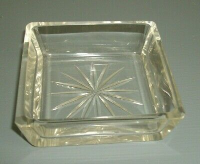 Very Nice Square Glass Trinket Dish