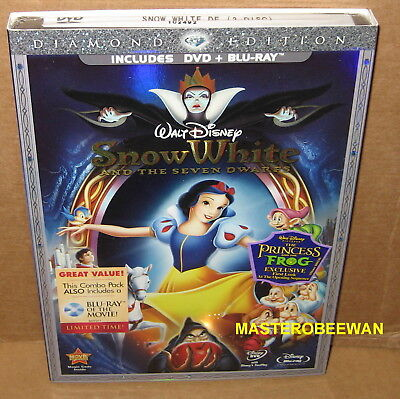 Disney's Snow White and the Seven Dwarfs (DVD, Blu-Ray, 2009, 3-Disc) New Sealed