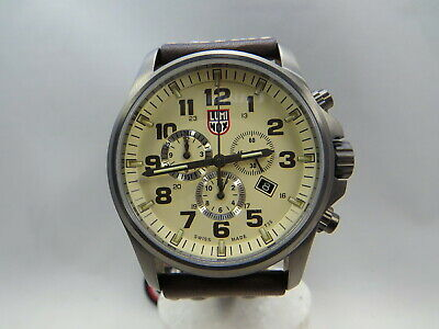 85b28250b60 LUMINOX ATACAMA FIELD Day Date 1920 Series Brown Men Watch XL.1929 ...