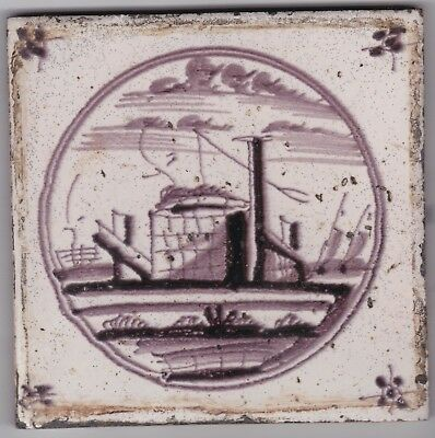 Delft Tile c. 18th / 19th century   (D 49)     well
