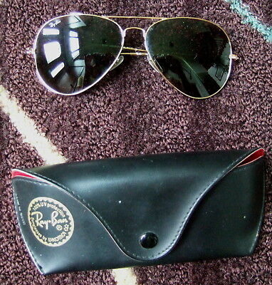 e685392182555 LARGE Mens Sunglasses Ray-Ban RB3026 Aviator Large Metal II L2846 62 USED  ONCE!