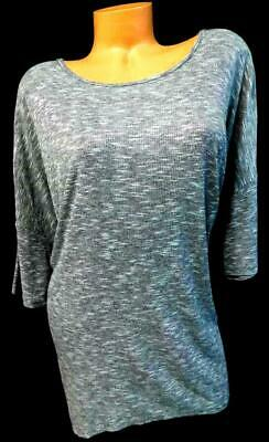 6e7b3e5b1920e Lularoe gray space dye round neck short sleeve high low plus size top 2XL