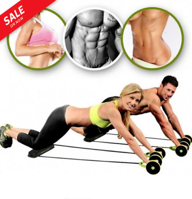 The Power Roll Ab Trainer Fitness Equipment Double Wheel Abdominal