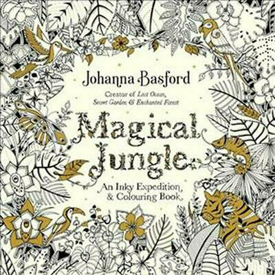 Magical Jungle: An Inky Expedition & Colouring Book by Johanna Basford Paperback