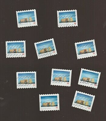 Canada 2018 Landscapes Rocher Percé 10   Used Stamps from COIL