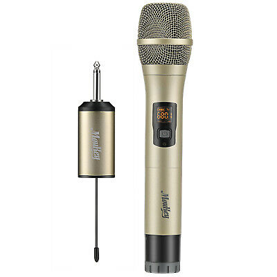 Professional Handheld Wireless Microphone System UHF 25 Channel Party Mic Audio