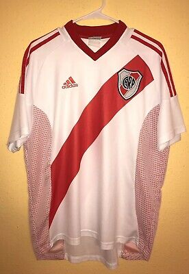 Argentina Adidas CA River Plate 2002/03 home Jersey Shirt size L white shirt