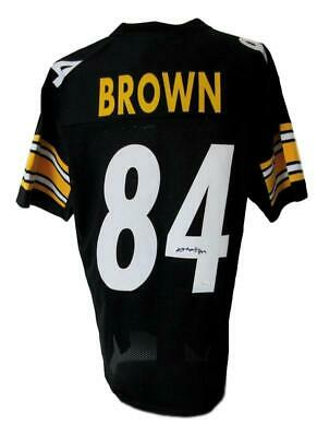 Antonio Brown Pittsburgh Steelers Autographed Signed Black Jersey JSA 142458 d3e65b602