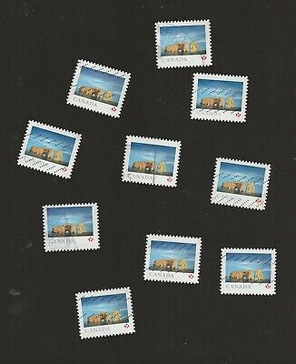 Canada 2018 Landscapes Rocher Percée  10   Used Stamps from Booklet