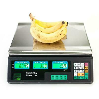 40kg/88lb Electronic Digital Scales Weighing Retail Shop Price Scale Black scale
