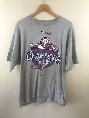 Philadelphia Phillies World Series Champions Shirt 2008 Majestic Men's Size XL