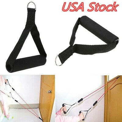 1pc Pulldown Tricep Rope Cable Handle V Bar Dip Resistance Multi-Gym GX