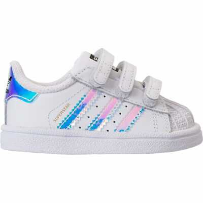 Girls Toddler adidas Superstar Casual Shoes Metallic Iridescent White AQ6280  WHT dce35900d