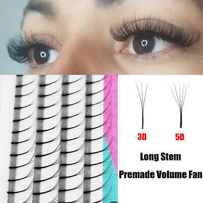 f577670a38e SKONHED 4 Lines Premade Russian Volume Fan Lashes 3D 5D Mink Eyelashes C/D  Curls
