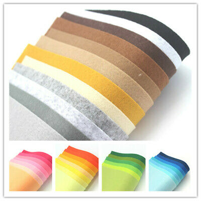 Wool Mix Felt Craft Packs Choice of Size & Colour -Gradient combination squares