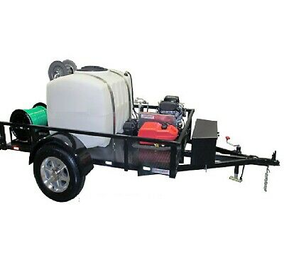 TurboJetter AX - Trailer Mounted Sewer & Drain Line Jetter 10 GPM @ 3,000 PSI