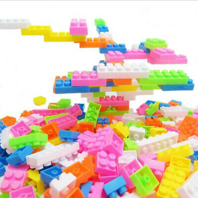 144Pcs Colorful Plastic Building Blocks Puzzle Baby Kids Educational Toy Gifts