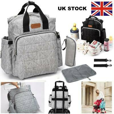 4PCS Mummy Backpack Baby Nappy Backpack Multifunctional Maternity Bag w/Diaper