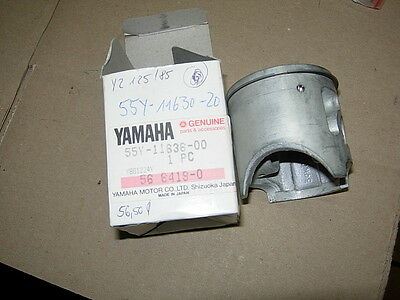 YAMAHA YZ125 '83-85  KOLBEN + RING  2.Maß   56,50° 55Y-11636-00  PISTON  + RING