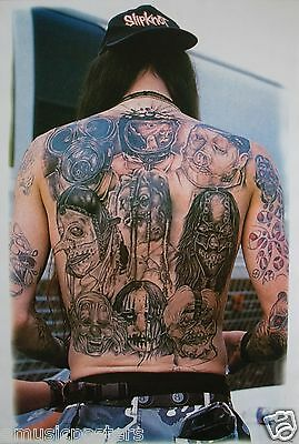 "SLIPKNOT ""BAND'S FACES TATTOOED ON A BACK"" POSTER FROM ASIA - Heavy Metal Music"