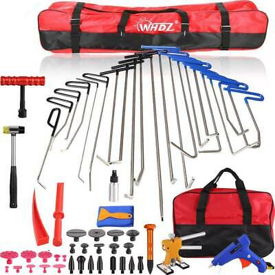 21PCS Push Rods Whale Tail Tools Ding Paintless Dent Removal Dent Lifter Kit US
