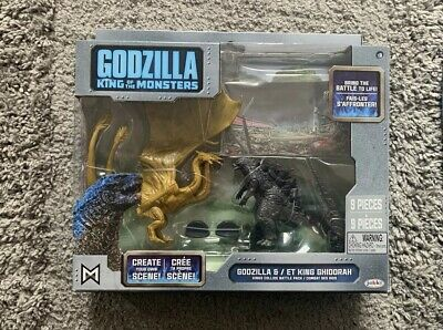 "Jakks Godzilla & Ghidorah King Of The Monsters Action Figures Toy 3.5"" 9cm NEW"