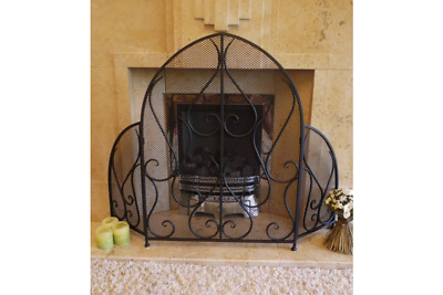 Traditional Ornate Fire Guard Screen Surround | Cottage Farmhouse Vintage Look