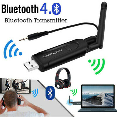 Wireless Bluetooth Transmitter A2DP 3.5mm Audio Music Adapter for TV DVD PC NEW