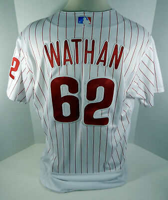 2018 Philadelphia Phillies Dusty Wathan #62 Game Used White Jersey