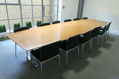 Wilkhahn 4.2m  x 1.3m Wooden Boardroom Conference Table 14 x Ceno 361/5 Chairs