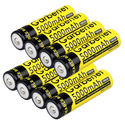 Lot of Garberiel 3.7V 18650 Battery 5000mAh Li-ion Rechargeable Batteries USA