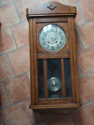 Wall Clock Case, Westminter Chime Style (Case Only with parts as fitted).